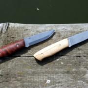 Handgefertigte Taschenmesser, egal ob zum Wanderstock schnitzen oder Lagerfeuer machen.